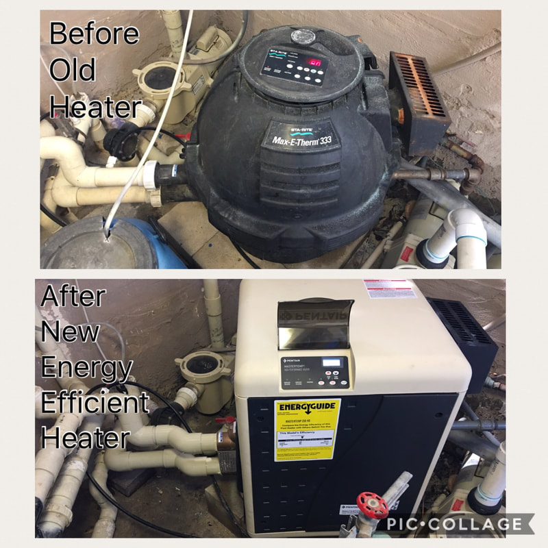Before & After Pool Heater